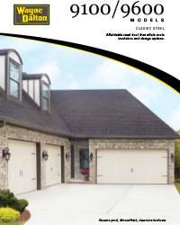 Wayne Dalton 9100 / 9600 Brochure